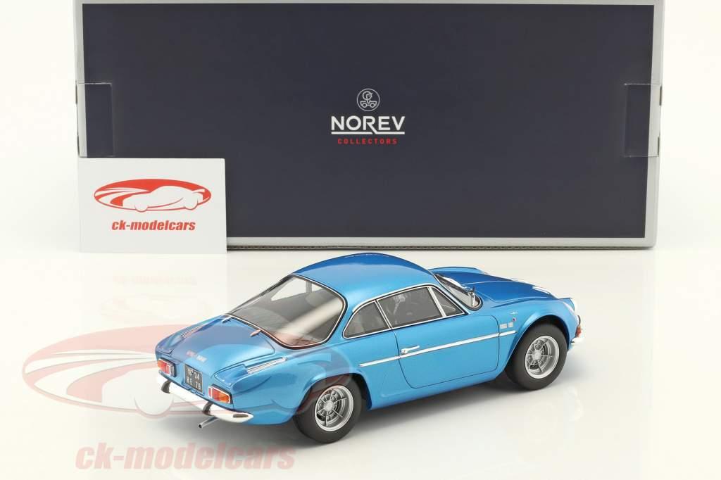 Alpine Renault A110 1600S Opførselsår 1971 blå metallisk 1:18 Norev