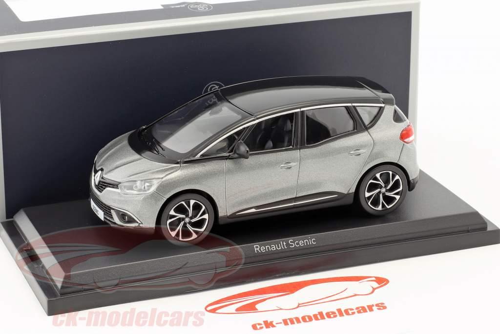 Renault Scenic Bouwjaar 2016 cassiopee grijs / zwart 1:43 Norev