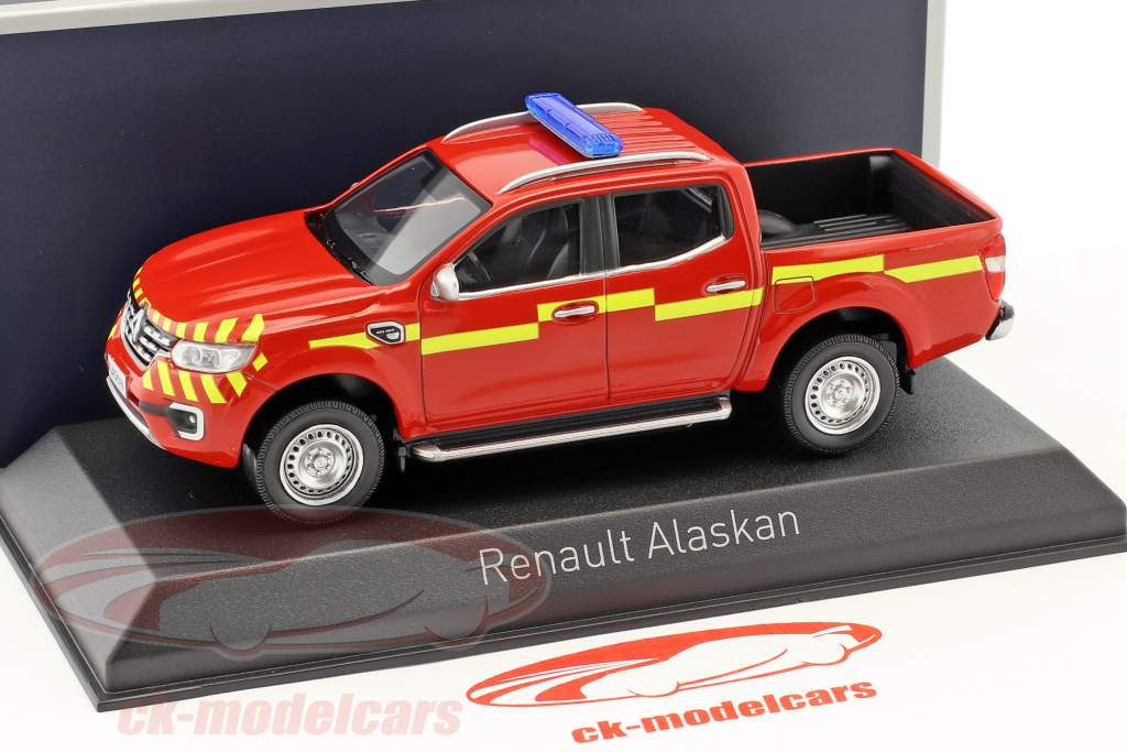 Renault Alaskan Pick-Up Pompiers año de construcción 2017 rojo / amarillo 1:43 Norev