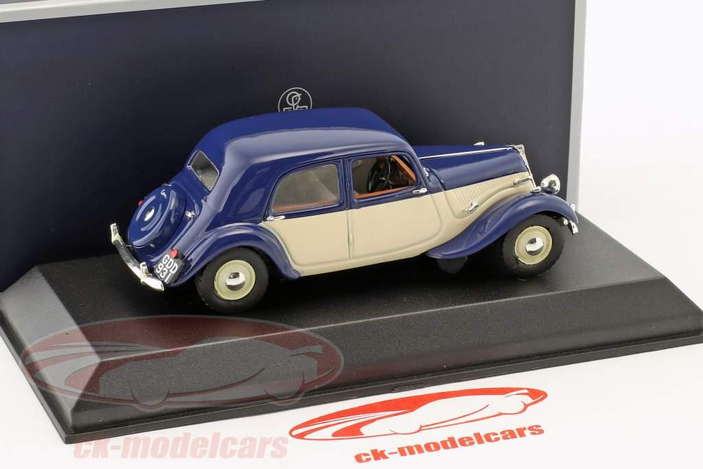 Citroen Light 15 año de construcción 1949 azul oscuro / crema blanco 1:43 Norev