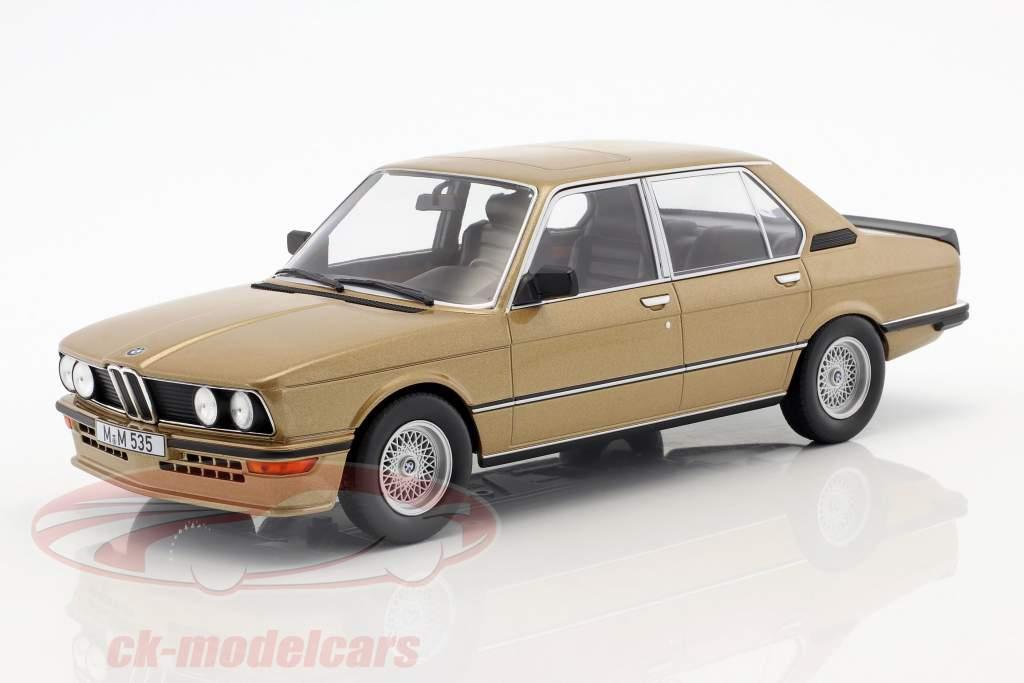 BMW M535i E12 year 1980 gold metallic 1:18 Norev