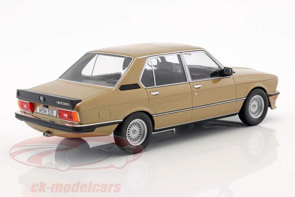 BMW M535i E12 année de construction 1980 or métallique 1:18 Norev