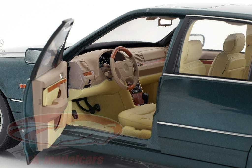 Mercedes-Benz S600 W140 year 1997 green metallic 1:18 Norev
