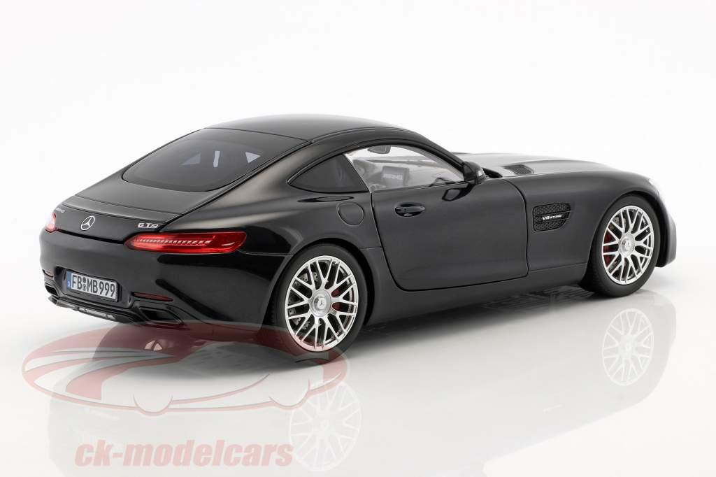 Mercedes-Benz AMG GT S Baujahr 2018 schwarz metallic 1:18 Norev