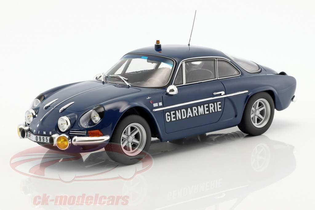 Alpine Renault A110 1600S Gendarmerie Baujahr 1971 blau 1:18 Norev