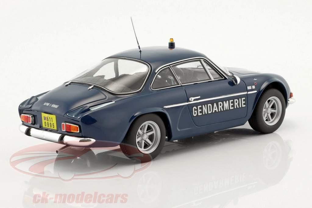 Alpine Renault A110 1600S Gendarmerie Opførselsår 1971 blå 1:18 Norev