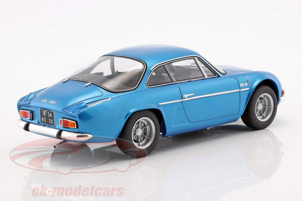 Alpine Renault A110 1600S Bouwjaar 1971 blauw metalen 1:18 Norev