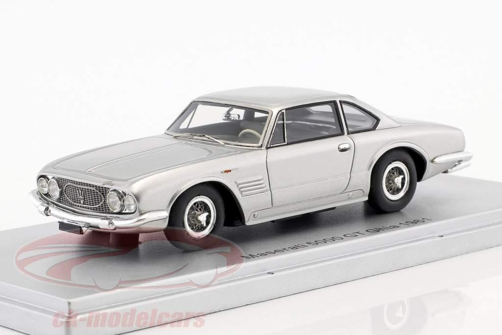 Maserati 5000 GT Ghia Personal car F. Innocenti anno di costruzione 1961 argento 1:43 KESS