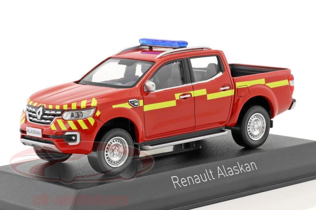 Renault Alaskan Pick-Up Pompiers Opførselsår 2017 rød / gul 1:43 Norev