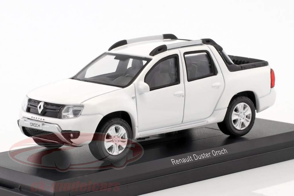 Renault Duster Oroch ano de construção 2015 branco 1:43 Norev
