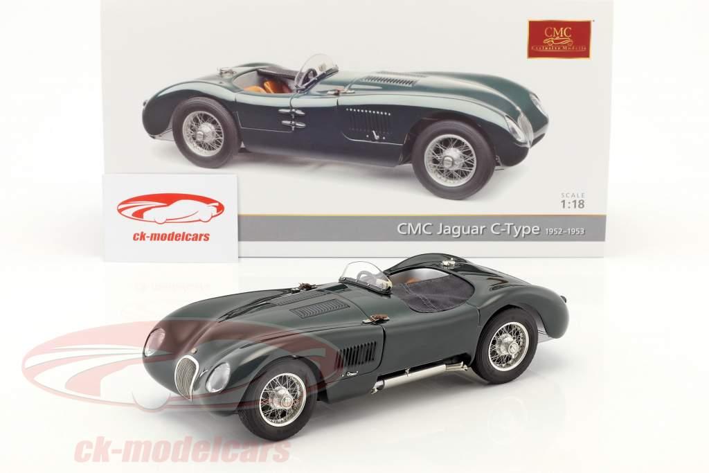 Jaguar C-Type año de construcción 1952-1953 British Racing verde 1:18 CMC