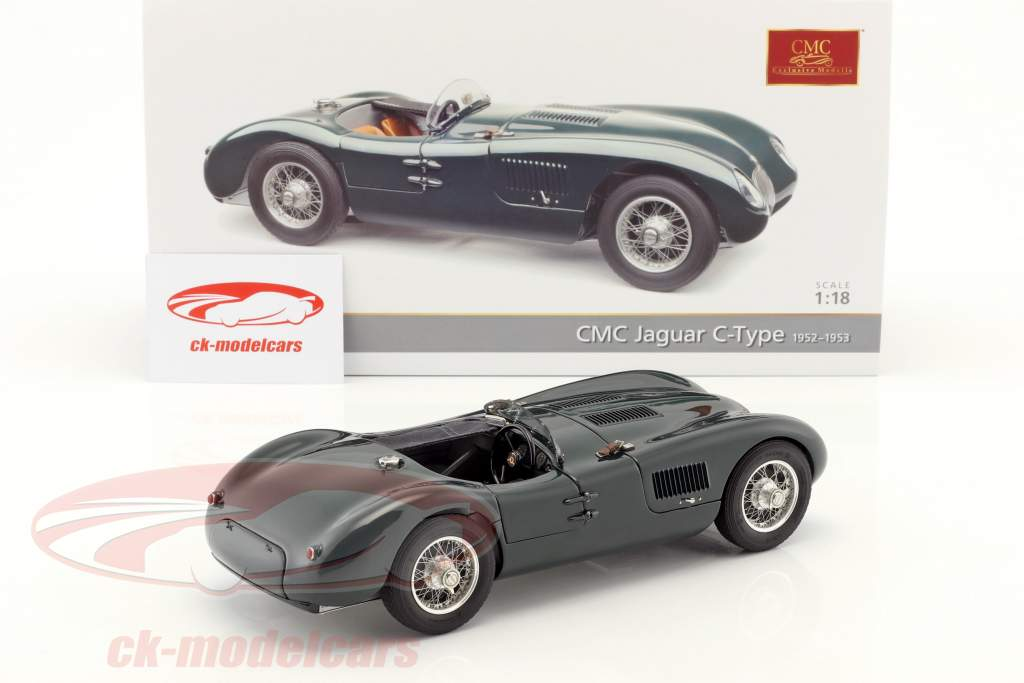 Jaguar C-Type year 1952-1953 British Racing green 1:18 CMC