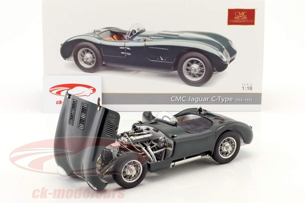 Jaguar C-Type Baujahr 1952-1953 British Racing grün 1:18 CMC