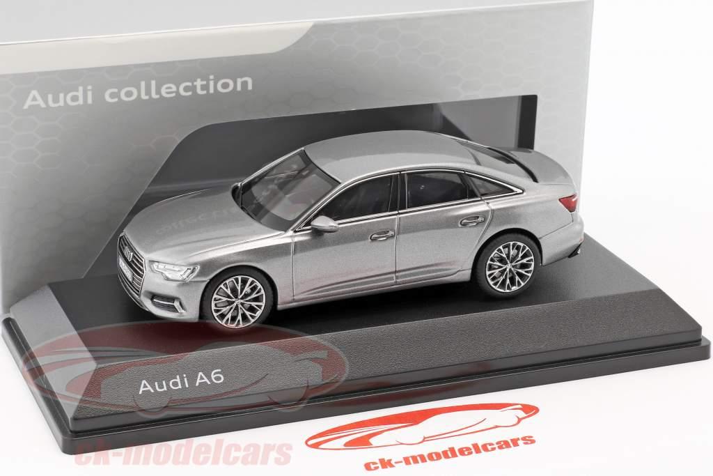 Audi A6 C8 sedán año de construcción 2018 taifun gris 1:43 iScale
