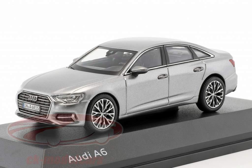 Audi A6 C8 sedan ano de construção 2018 taifun cinza 1:43 iScale