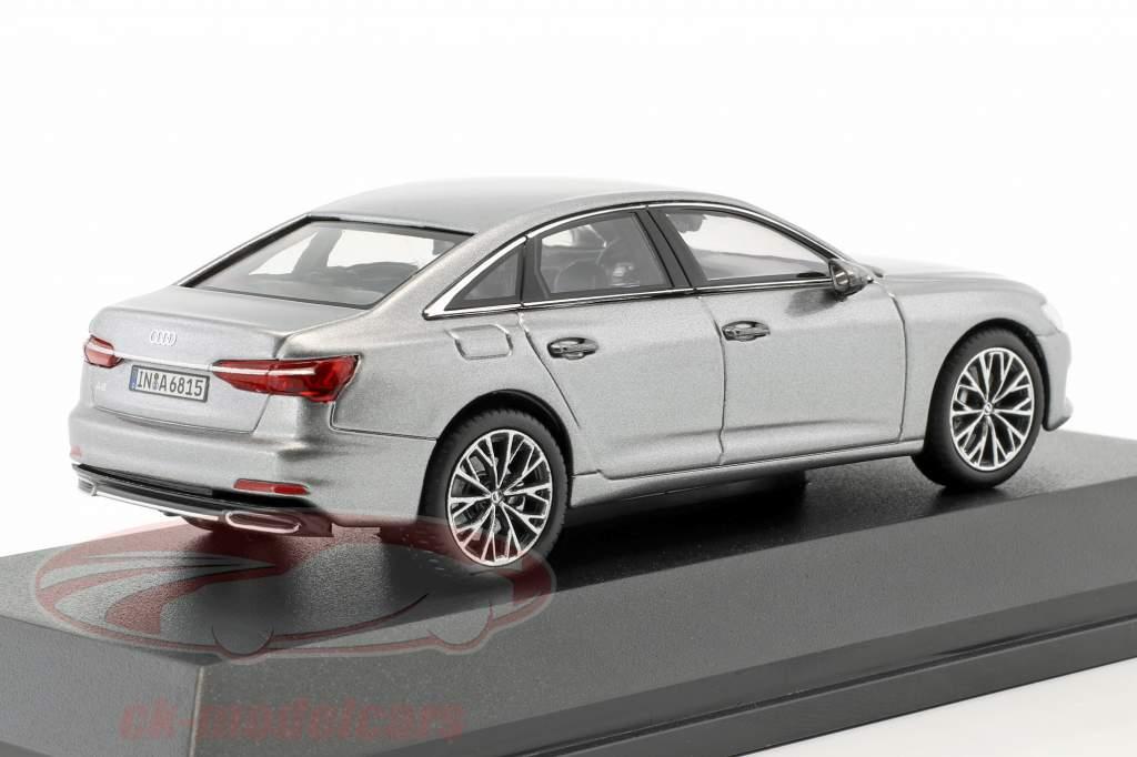 Audi A6 C8 limousine year 2018 taifun grey 1:43 iScale