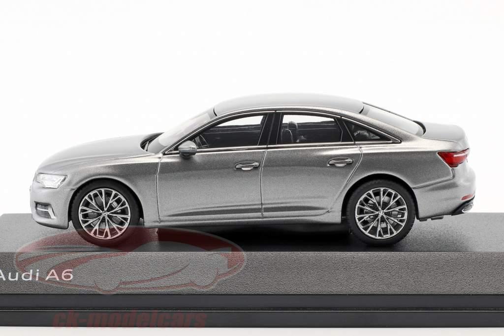 Audi A6 C8 sedan Opførselsår 2018 taifun grå 1:43 iScale