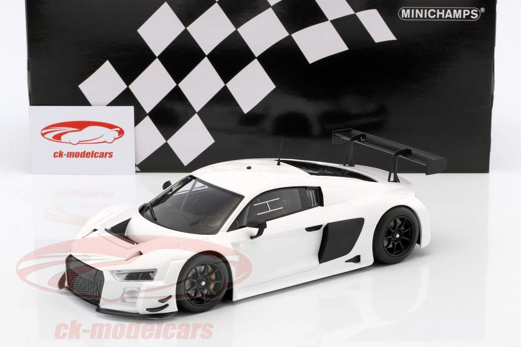 Audi R8 LMS Ultra Baujahr 2015 Plain Body Edition weiß 1:18 Minichamps