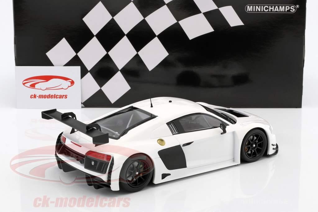 Audi R8 LMS Ultra Baujahr 2015 Plain Body Edition weiß 1:18 Minichamps