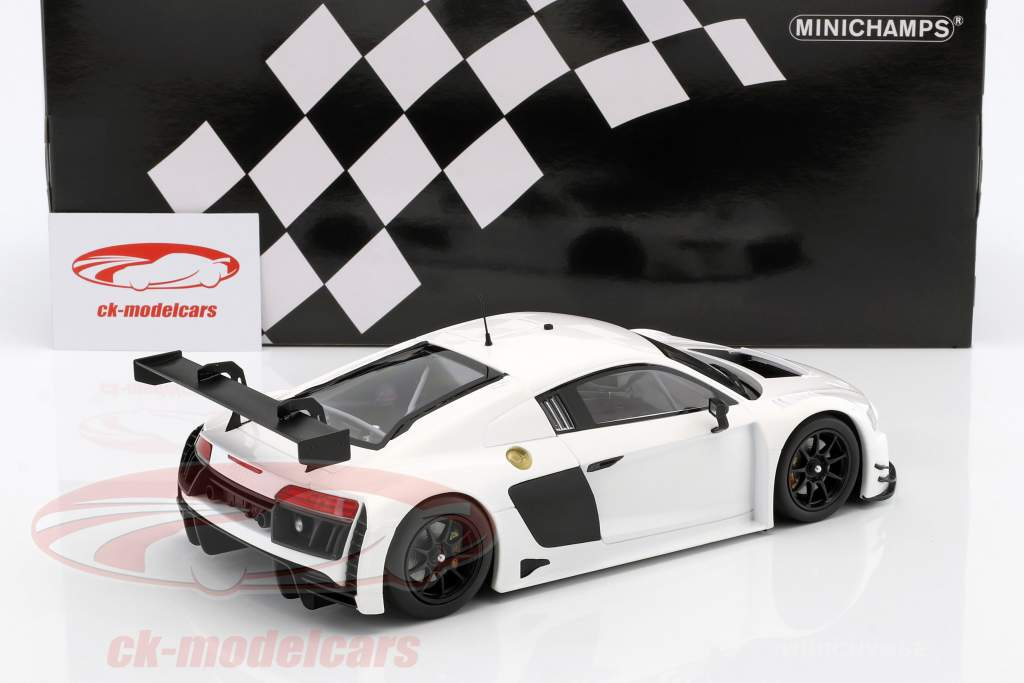 Audi R8 LMS Ultra Bouwjaar 2015 Plain Body Edition wit 1:18 Minichamps