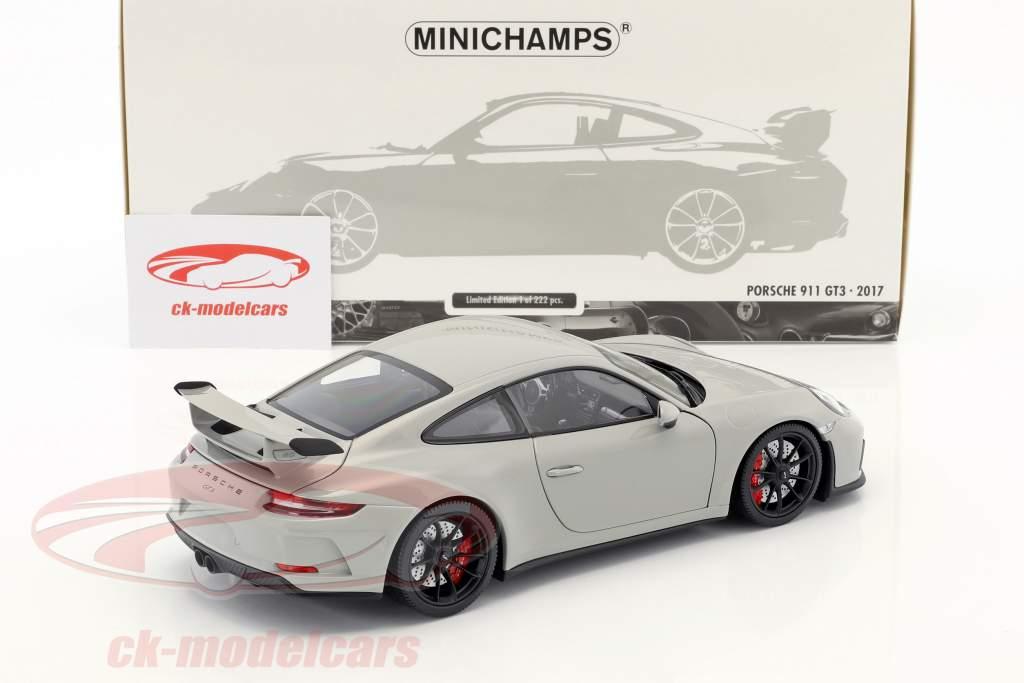Porsche 911 (991 II) GT3 Baujahr 2017 kreidegrau 1:18 Minichamps