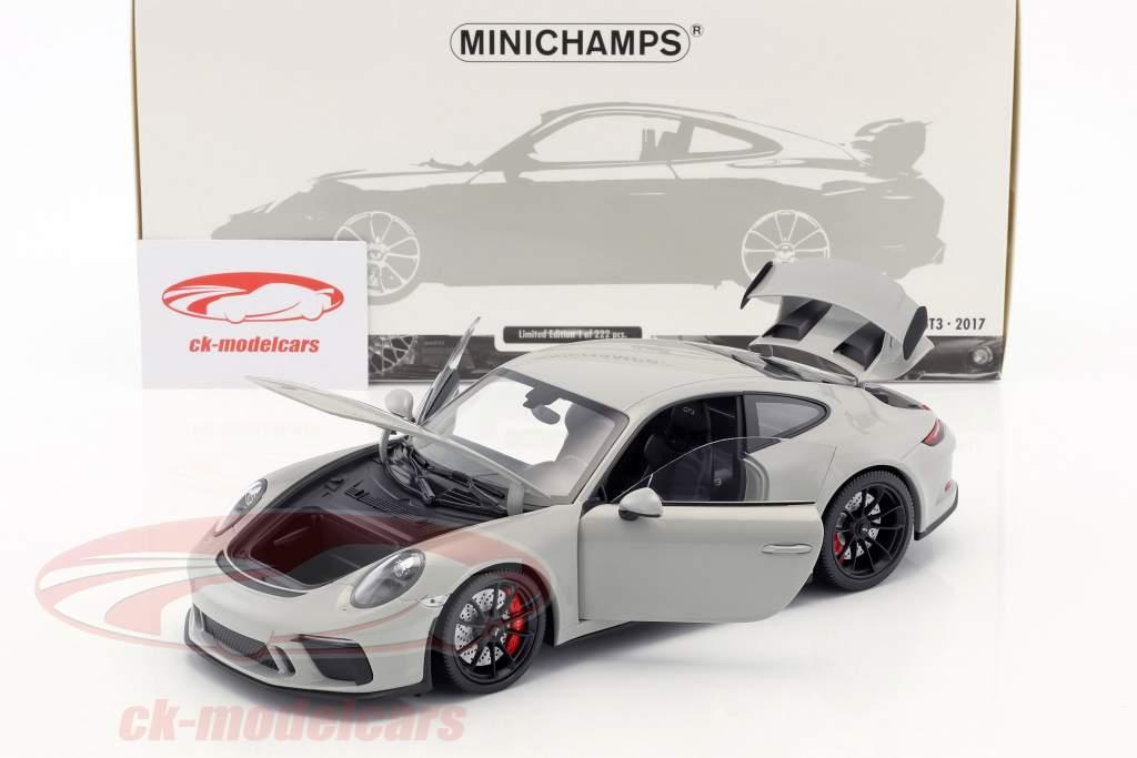 Porsche 911 (991 II) GT3 Bouwjaar 2017 krijt grijs 1:18 Minichamps