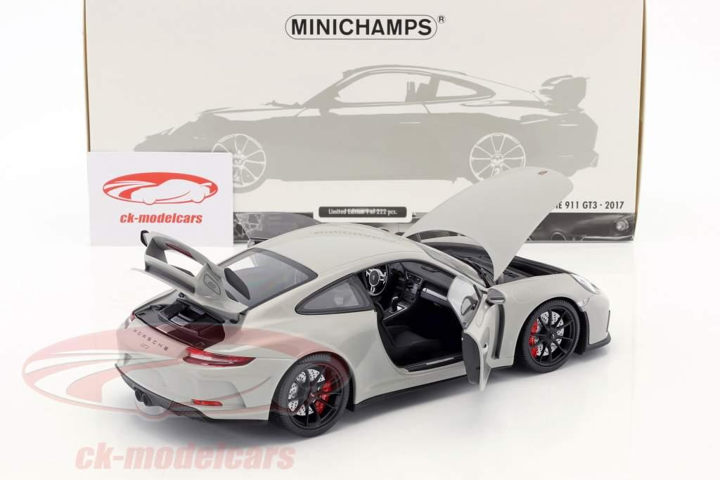 Porsche 911 (991 II) GT3 anno di costruzione 2017 gesso grigio 1:18 Minichamps