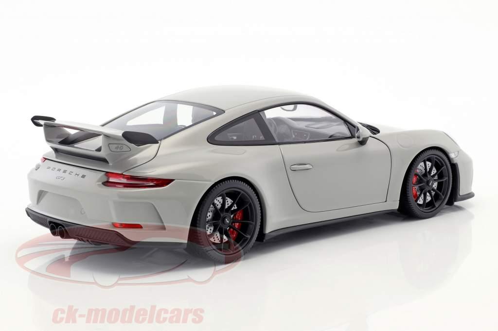 Porsche 911 (991 II) GT3 année de construction 2017 craie grise 1:18 Minichamps