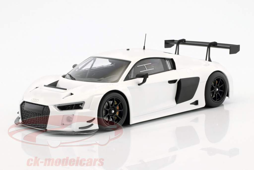 Audi R8 LMS Ultra Opførselsår 2015 Plain Body Edition hvid 1:18 Minichamps