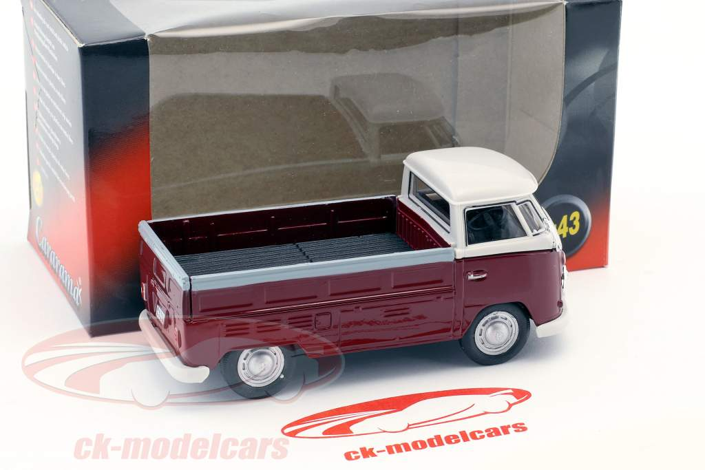 Volkswagen VW T1 Pick Up Bouwjaar 1960 purper / wit 1:43 Cararama