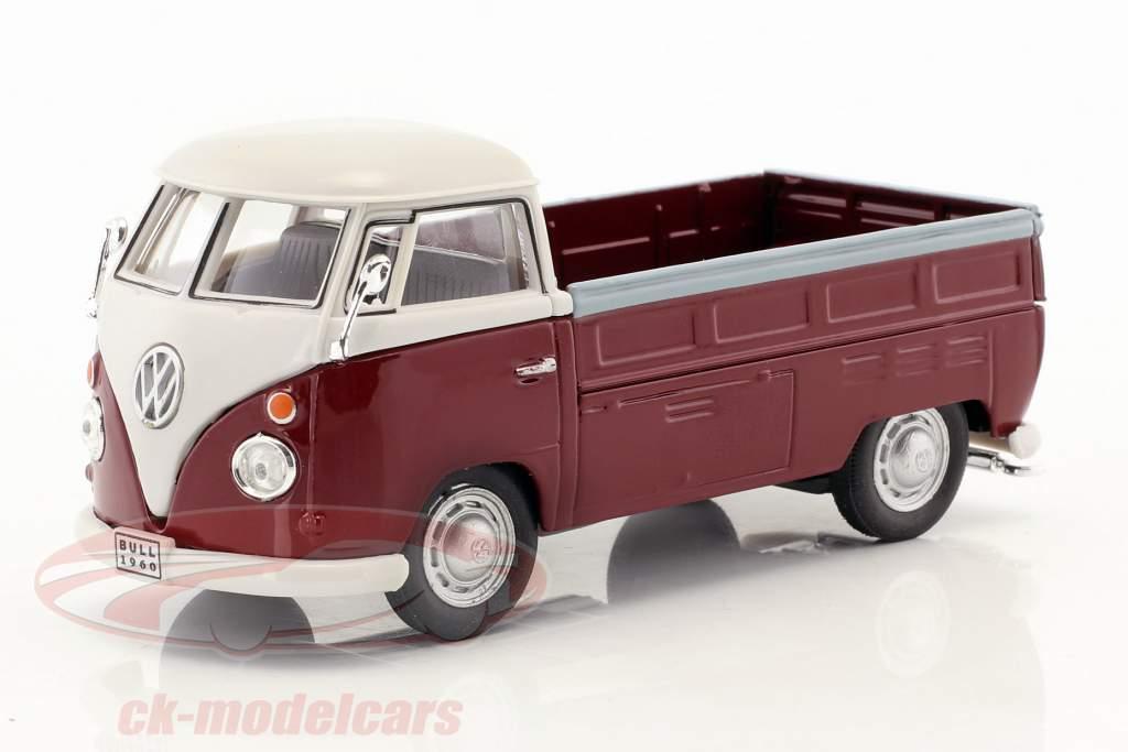 Volkswagen VW T1 Pick Up anno di costruzione 1960 porpora / bianco 1:43 Cararama