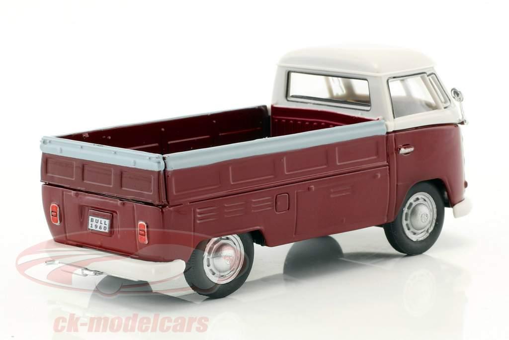Volkswagen VW T1 Pick Up année de construction 1960 pourpre / blanc 1:43 Cararama
