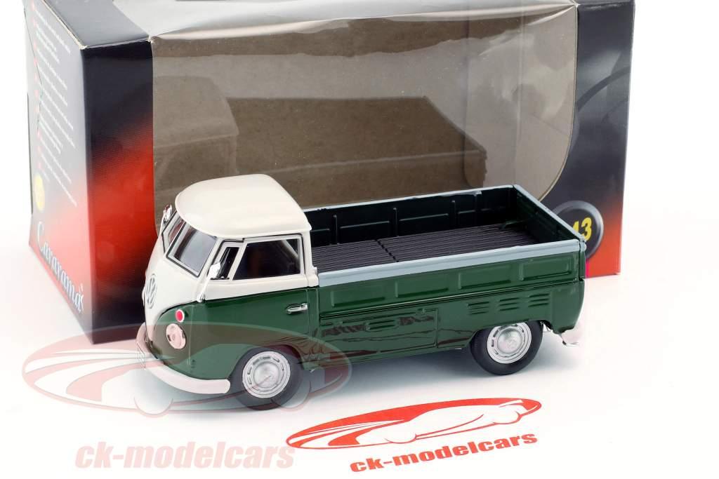 Volkswagen VW T1 Pick Up Bouwjaar 1960 donkergroen / wit 1:43 Cararama