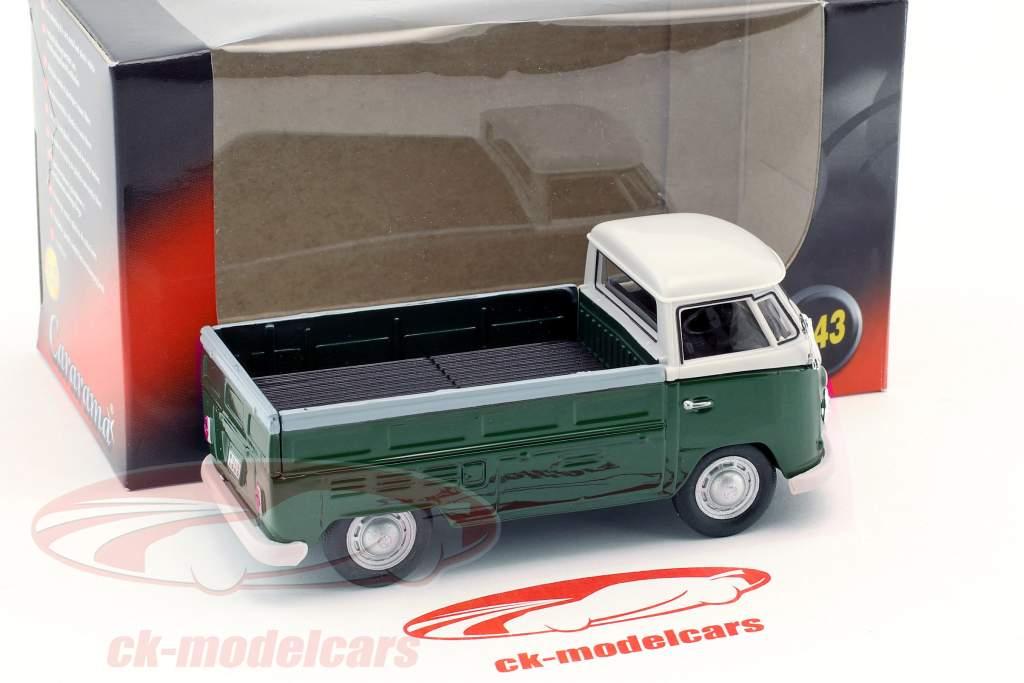 Volkswagen VW T1 Pick Up Opførselsår 1960 mørkegrøn / hvid 1:43 Cararama