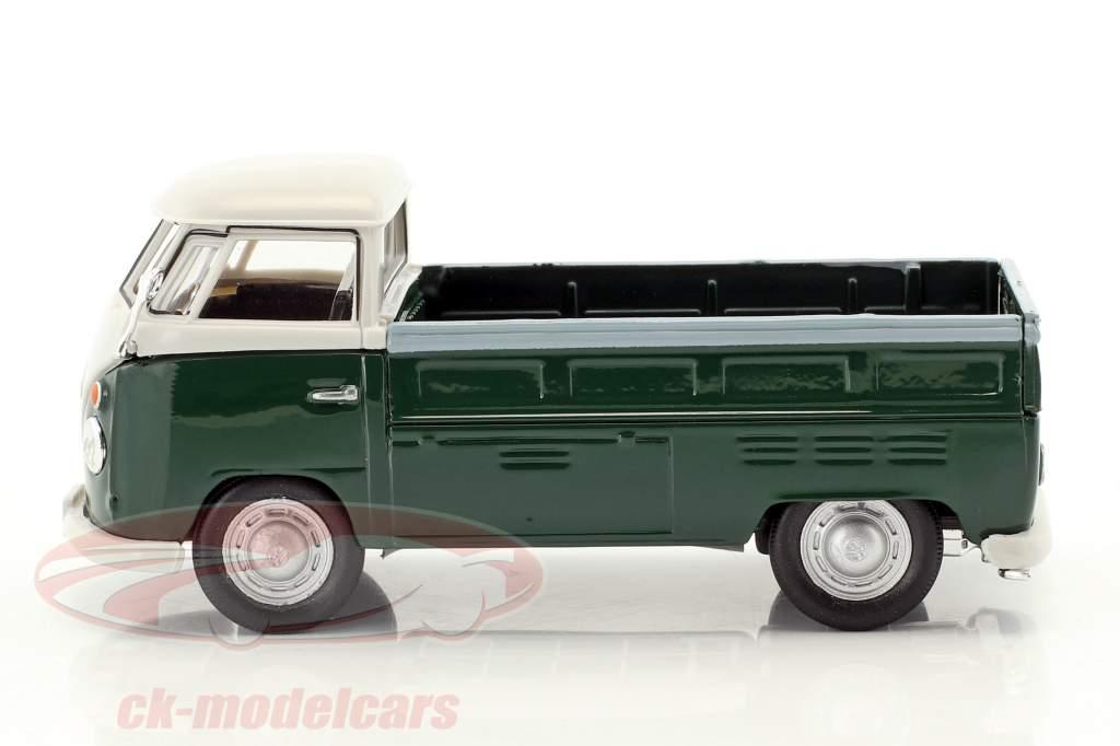 Volkswagen VW T1 Pick Up year 1960 dark green / white 1:43 Cararama