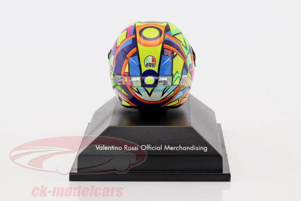 Valentino Rossi Moto GP 2017 hommage à A. Nieto , N. Hayden AGV casque 1:8 Minichamps