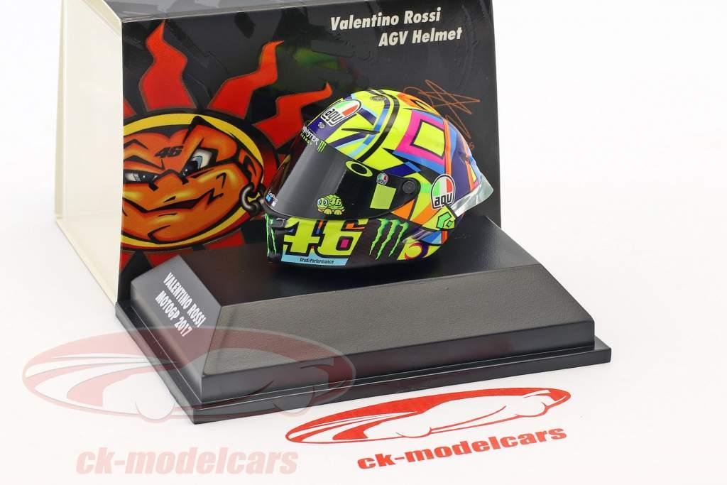 Valentino Rossi MotoGP 2017 AGV capacete 1:8 Minichamps