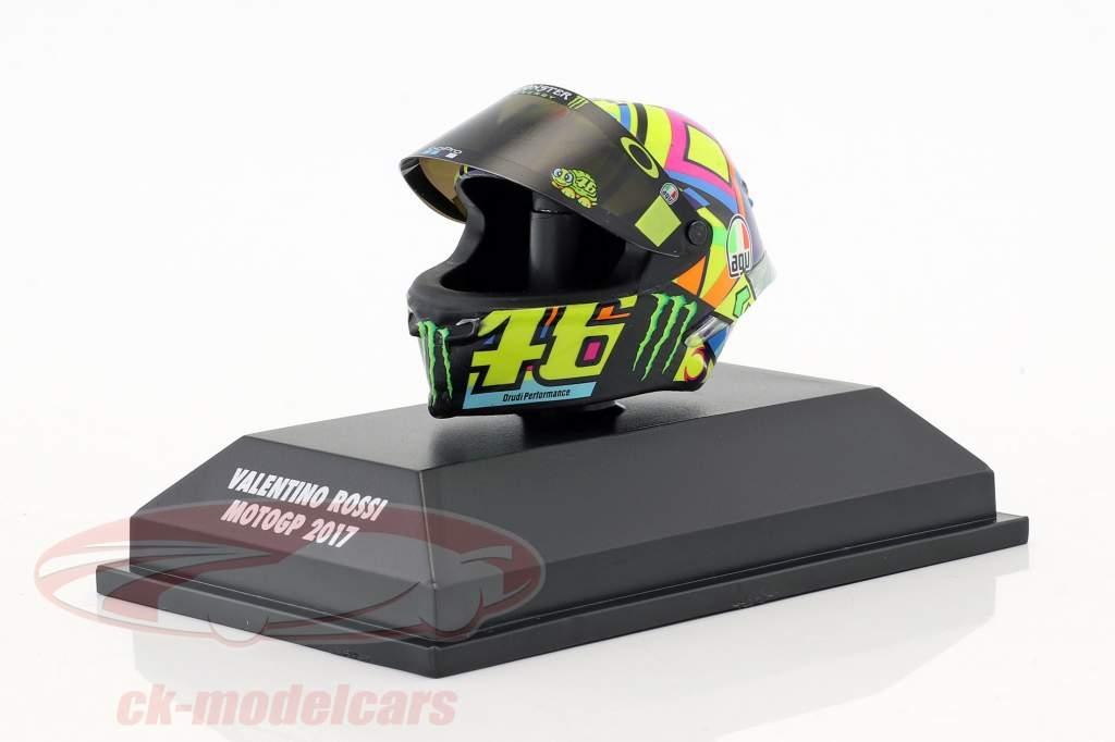 Valentino Rossi MotoGP 2017 AGV helm 1:8 Minichamps
