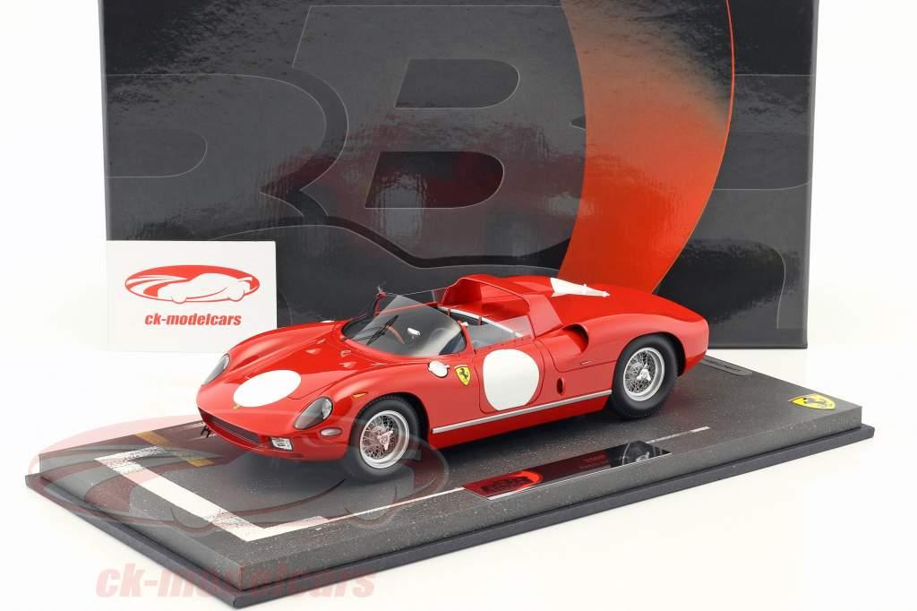 Ferrari 250 P imprensa versão 1963 rosso corsa 1:18 BBR