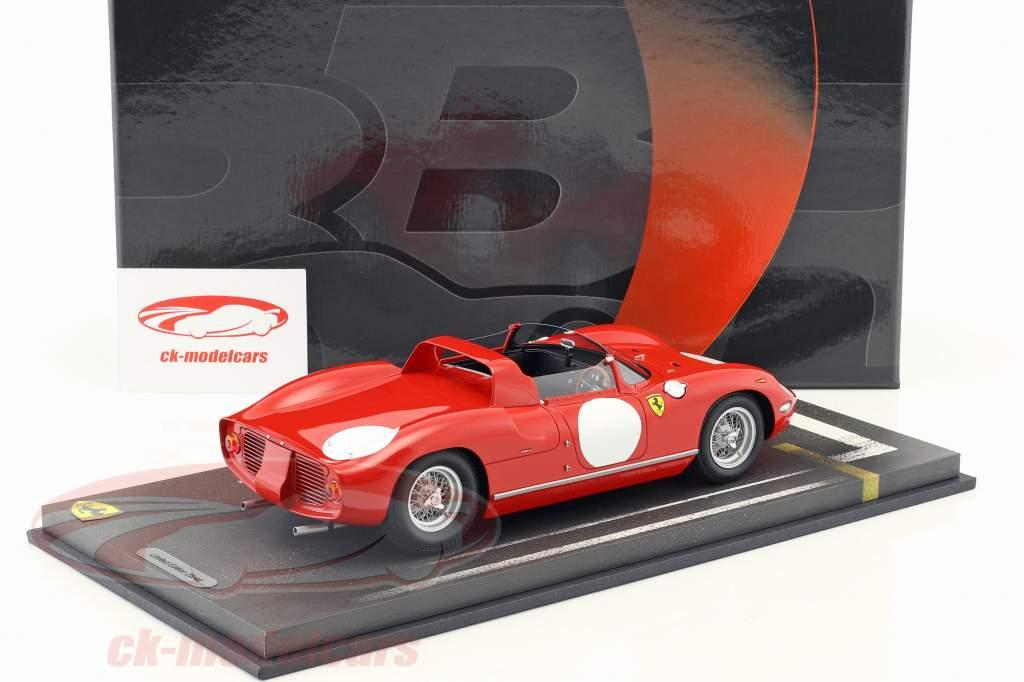 Ferrari 250 P prensa versión 1963 rosso corsa 1:18 BBR