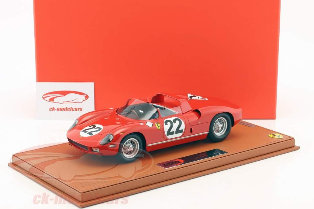 Ferrari 250 P #22 3rd 24h LeMans 1963 Parkes, Maglioli With Showcase 1:18 BBR