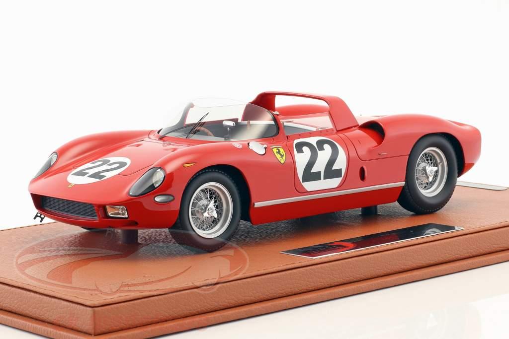 Ferrari 250 P #22 tercero 24h LeMans 1963 Parkes, Maglioli con escaparate 1:18 BBR