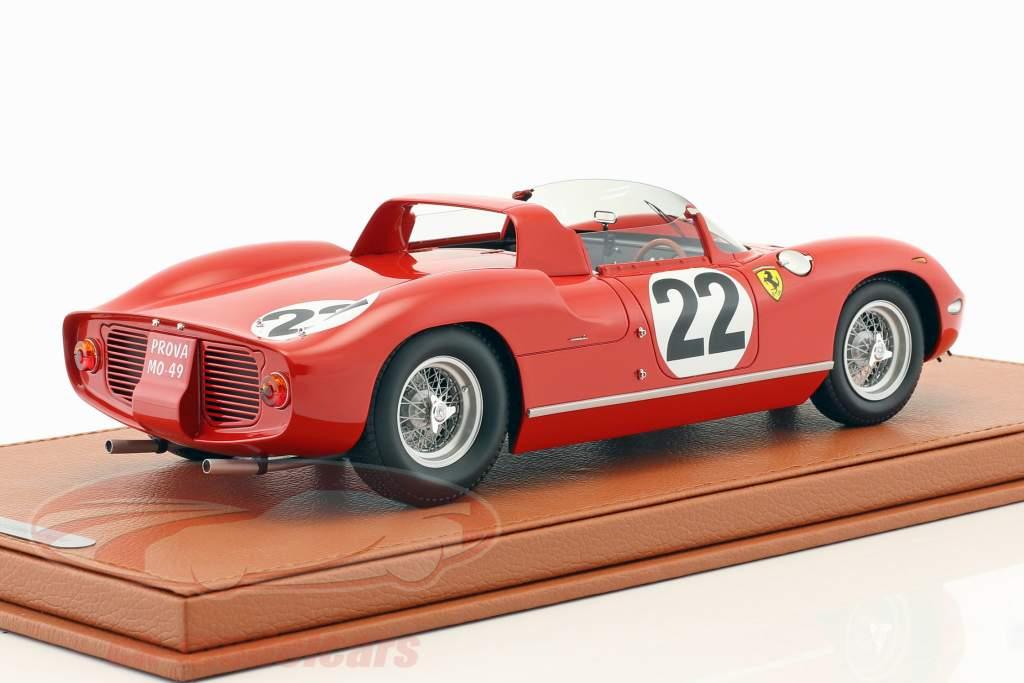 Ferrari 250 P #22 3ª 24h LeMans 1963 Parkes, Maglioli com mostruário 1:18 BBR