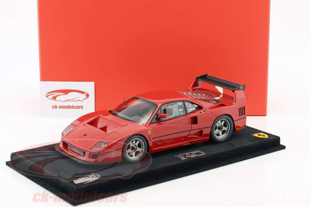 Ferrari F40 LM Press version 1989 red with showcase 1:18 BBR