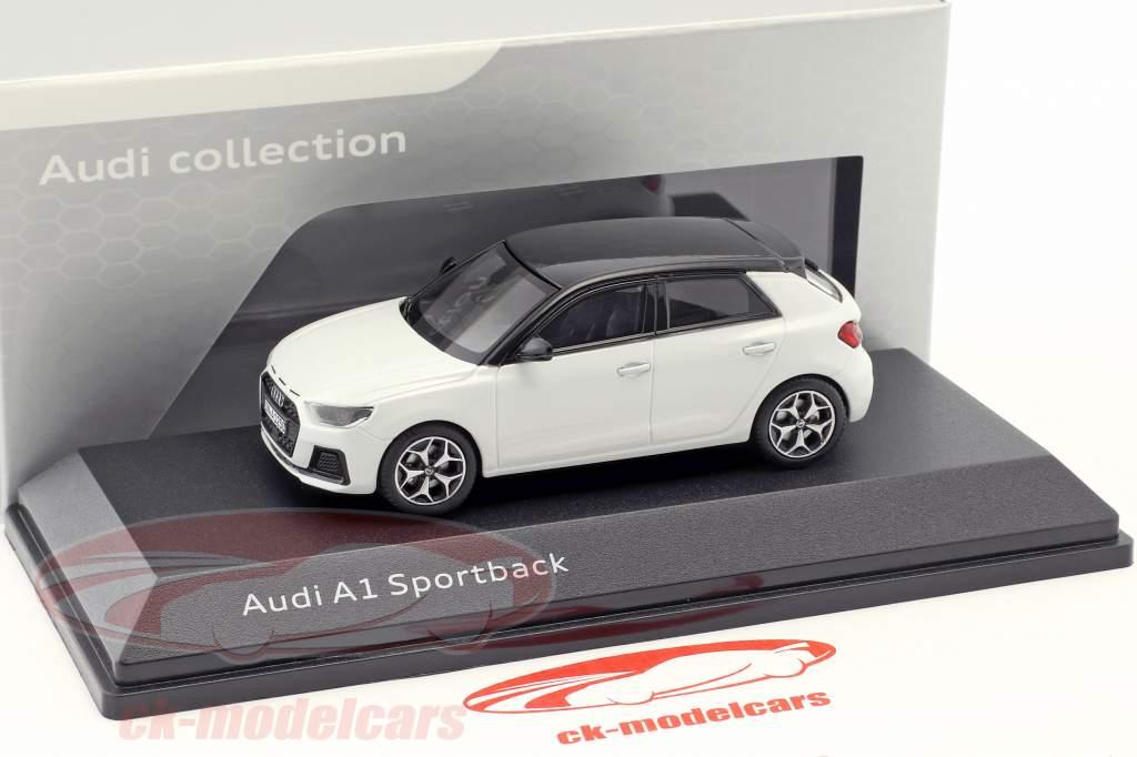 Audi A1 Sportback GB Baujahr 2018 gletscherweiß 1:43 iScale