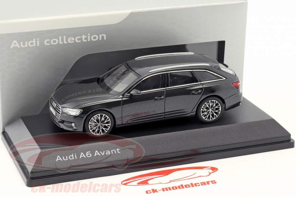 Audi A6 Avant C8 année de construction 2018 gris Vesuv 1:43 iScale