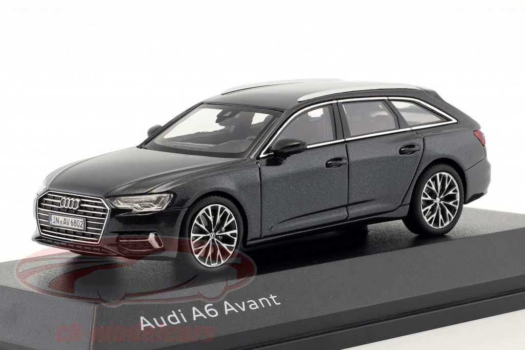 Audi A6 Avant C8 Baujahr 2018 vesuvgrau 1:43 iScale