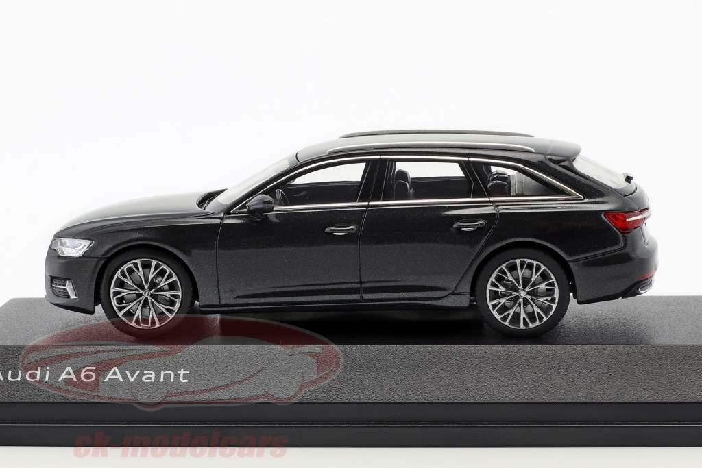 Audi A6 Avant C8 Opførselsår 2018 Vesuv grå 1:43 iScale