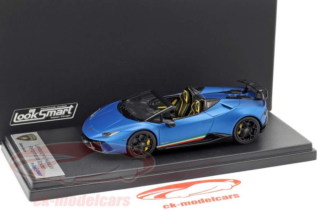 Lamborghini Huracan Performante Spyder LP 640-4 anno di costruzione 2017 blu aegeus 1:43 LookSmart