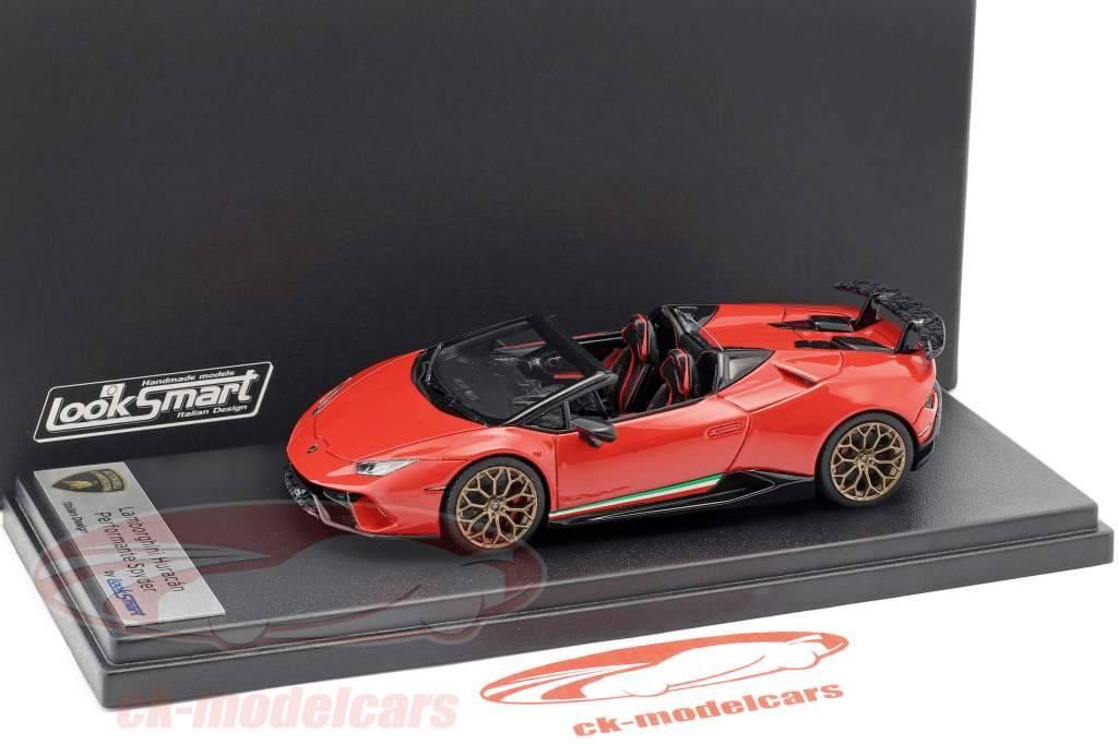 Lamborghini Huracan Performante Spyder LP 640-4 year 2017 Mars red 1:43 LookSmart